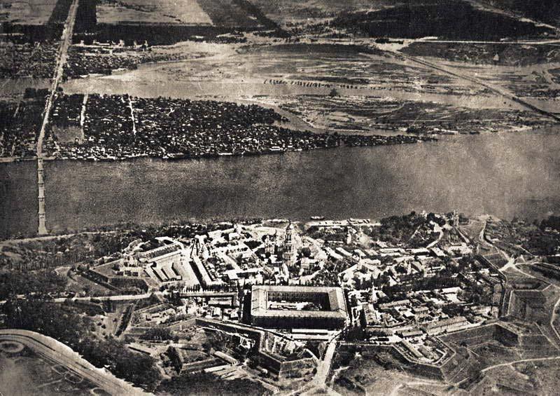 Київська фортеця, аерофотозйомка, 1918 рік