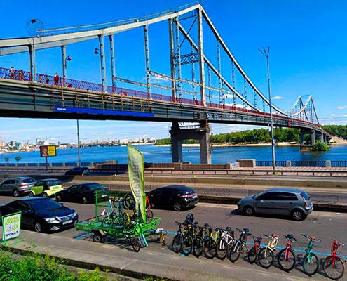 Прокат велосипедів міст на Труханів острів