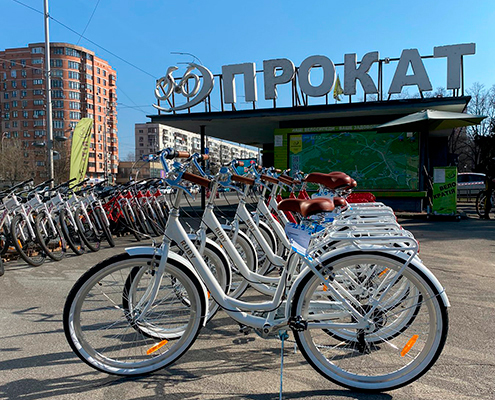 Прокат велосипедів на ВДНГ Київ